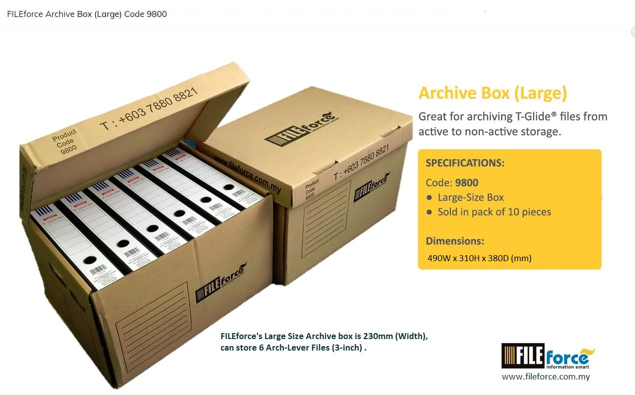 ARCHIVE BOX (Large)
