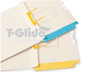 T-Glide paper files with smart fileforce clips