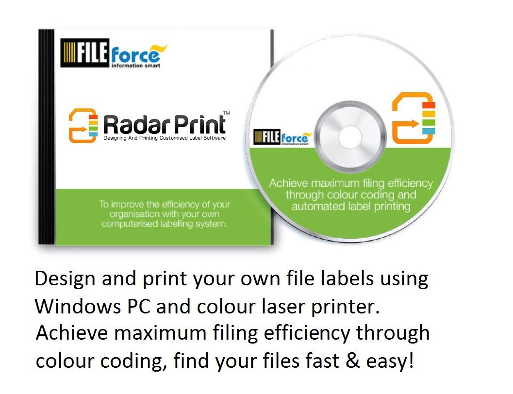 Custom Card Template label making software : RadarPrint Label Making Software : FILEforce